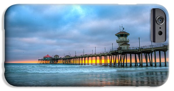 Annual iPhone Cases - Sunset beneath the Pier iPhone Case by Andrew Slater
