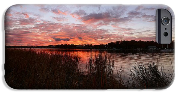 Autumn In New England iPhone Cases - Sunset Bliss iPhone Case by Lourry Legarde
