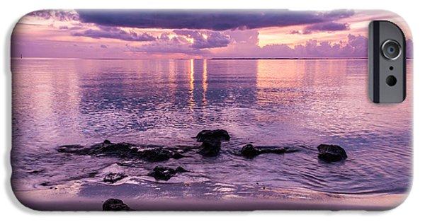 Beach Landscape iPhone Cases - Sunset Blush iPhone Case by Kristina Abramovic