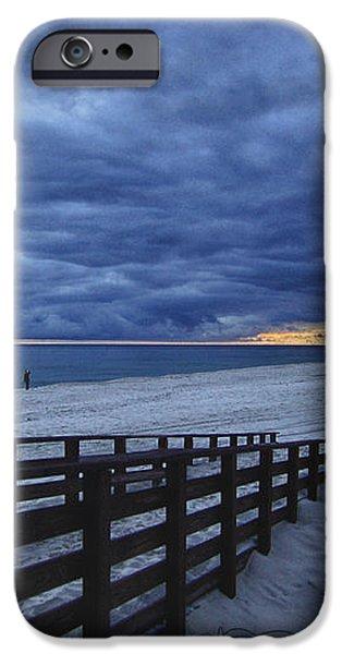 Sunset Boardwalk iPhone Case by Michael Thomas
