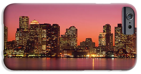 Reflection In Water iPhone Cases - Sunset Boston Ma iPhone Case by Panoramic Images