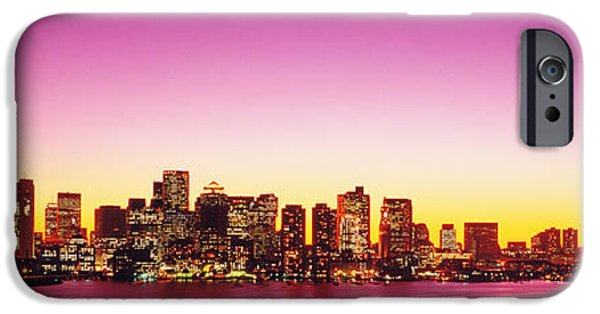 Boston Ma iPhone Cases - Sunset, Boston, Massachusetts, Usa iPhone Case by Panoramic Images