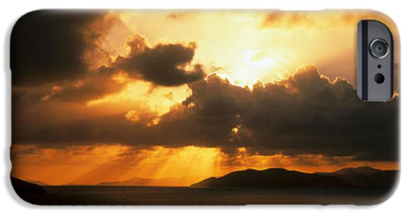 Ocean Sunset iPhone Cases - Sunset British Virgin Islands iPhone Case by Panoramic Images