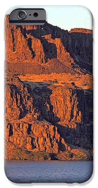 Sunset Cliffs at Horsethief  iPhone Case by Talya Johnson