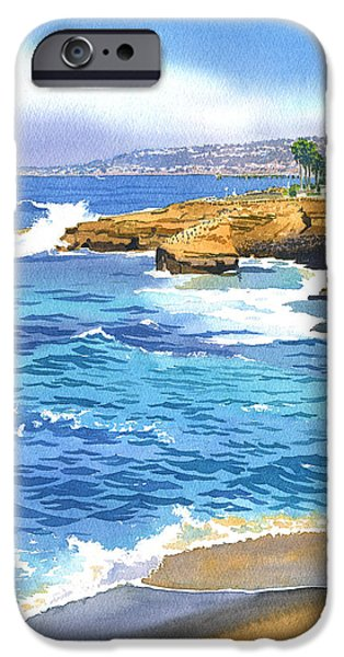 Cliff iPhone Cases - Sunset Cliffs Point Loma iPhone Case by Mary Helmreich