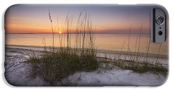 Sanddunes iPhone Cases - Sunset Dunes iPhone Case by Debra and Dave Vanderlaan