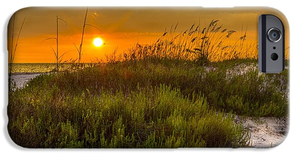 Gulf Of Mexico iPhone Cases - Sunset Dunes iPhone Case by Marvin Spates