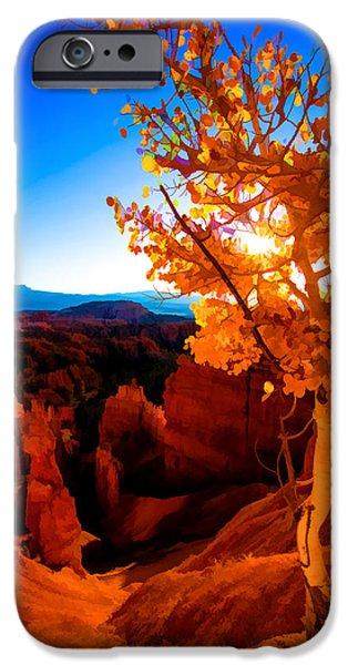 Fall Season iPhone Cases - Sunset Fall iPhone Case by Chad Dutson