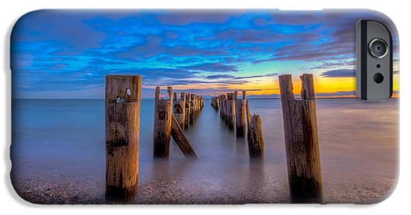 Cape Cod iPhone Cases - Sunset Falmouth Heights iPhone Case by Michael Petrizzo