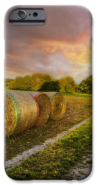 Sunset Farm iPhone Case by Debra and Dave Vanderlaan