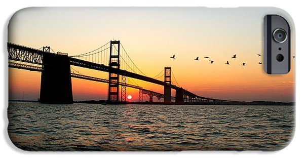 Best Sellers -  - Bay Bridge iPhone Cases - Sunset Flight iPhone Case by Jennifer Casey
