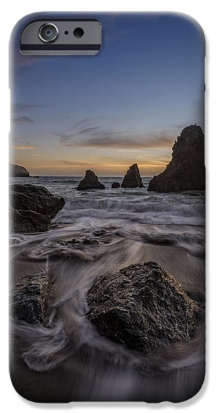 Headland iPhone Cases - Sunset Goodbye iPhone Case by Rick Berk