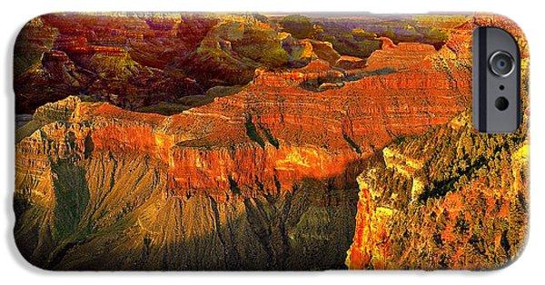 Grand Canyon iPhone Cases - Sunset Grand Canyon Arizona iPhone Case by  Bob and Nadine Johnston