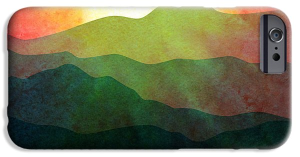 """digital Abstract"" iPhone Cases - Sunset Hills iPhone Case by Gary Grayson"