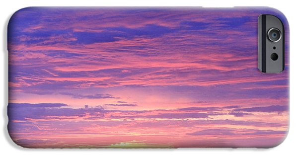 Pastel Pyrography iPhone Cases - Sunset in Alaska iPhone Case by Shoal Hollingsworth