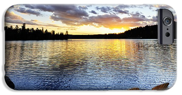 Algonquin iPhone Cases - Sunset in Algonquin Park iPhone Case by Elena Elisseeva