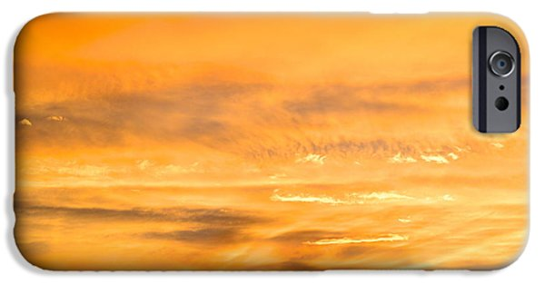 Universities Pyrography iPhone Cases - Sunset in Arizona iPhone Case by Robert Wheeler