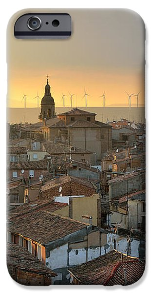 Sunset in Calahorra from the bell tower of Saint Andrew church iPhone Case by RicardMN Photography
