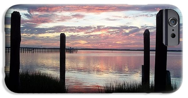 Island Stays iPhone Cases - Sunset In Chincoteague Virginia iPhone Case by Lora Simmons