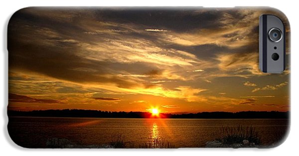 United States iPhone Cases - Sunset in Maine iPhone Case by Donnie Freeman