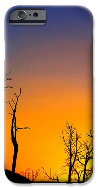 Colorado Fires iPhone Cases - Sunset In Mesa Verde iPhone Case by Dan Sproul