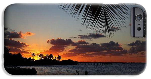 Islamorada iPhone Cases - Sunset in Paradise iPhone Case by Michelle Wiarda