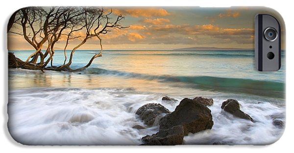 Hawaii Islands iPhone Cases - Sunset in Paradise iPhone Case by Mike  Dawson