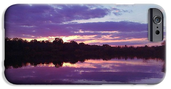 R. Mclellan Photography iPhone Cases - Sunset in Purple iPhone Case by R McLellan