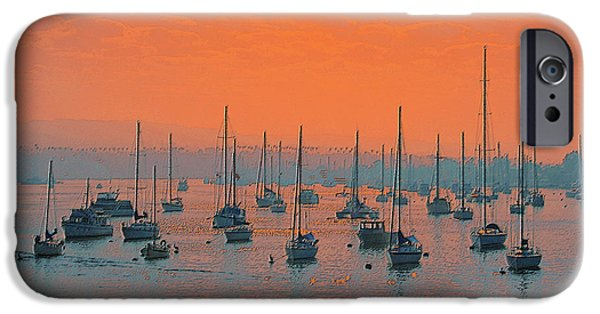 Sailing iPhone Cases - Sunset In Santa Catalina Harbor iPhone Case by Ben and Raisa Gertsberg