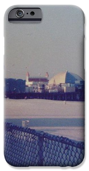 Sunset in Seaside Heights NJ iPhone Case by Joann Renner
