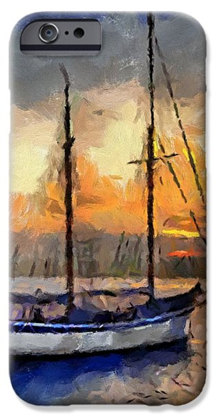 Sunset in the Bay iPhone Case by Dragica  Micki Fortuna