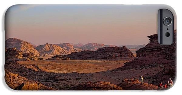 Jordan iPhone Cases - Sunset in the Wadi Rum Desert Jordan iPhone Case by David Smith