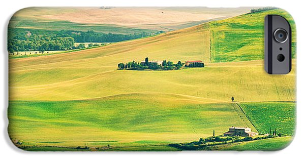 Chianti Hills iPhone Cases - Sunset in Tuscany iPhone Case by JR Photography