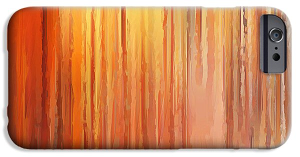 Burnt Umber iPhone Cases - Sunset Infinity iPhone Case by Lourry Legarde