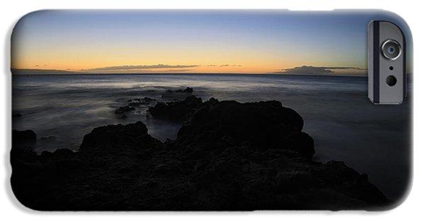 Ocean Sunset iPhone Cases - Sunset Kamaole Beach lll Maui Hawaii iPhone Case by Edward Fielding