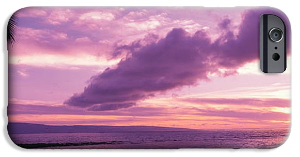 Sailboat Ocean iPhone Cases - Sunset Kapala Bay Maui Hi Usa iPhone Case by Panoramic Images