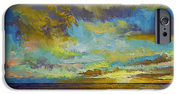 Michael Paintings iPhone Cases - Sunset Key Largo iPhone Case by Michael Creese