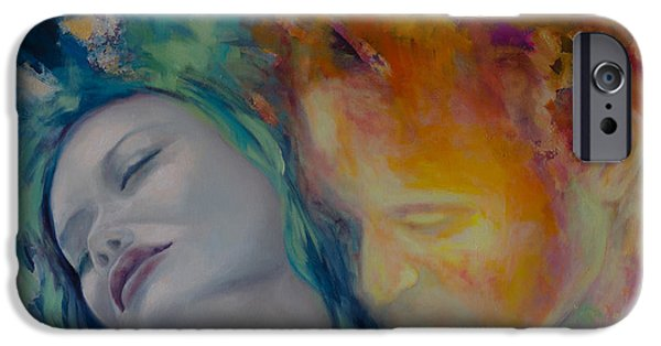 Recently Sold -  - Couple iPhone Cases - Sunset Kiss iPhone Case by Dorina  Costras