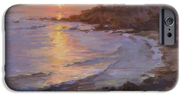 Heisler Park iPhone Cases - Sunset Laguna Beach iPhone Case by Alfred Tse