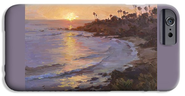 Heisler Park iPhone Cases - Sunset Laguna Beach iPhone Case by Alfred Tse