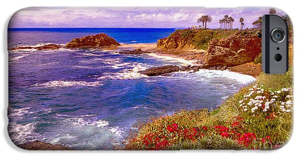 Balcony iPhone Cases - Sunset Laguna Beach California iPhone Case by  Bob and Nadine Johnston