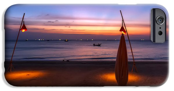 Coastline Digital Art iPhone Cases - Sunset Lanta Island  iPhone Case by Adrian Evans