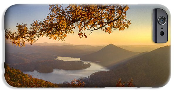 Ga iPhone Cases - Sunset Light iPhone Case by Debra and Dave Vanderlaan