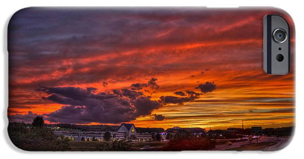 Covington iPhone Cases - Sunset Mall at Stonecrest Lithonia GA iPhone Case by Reid Callaway