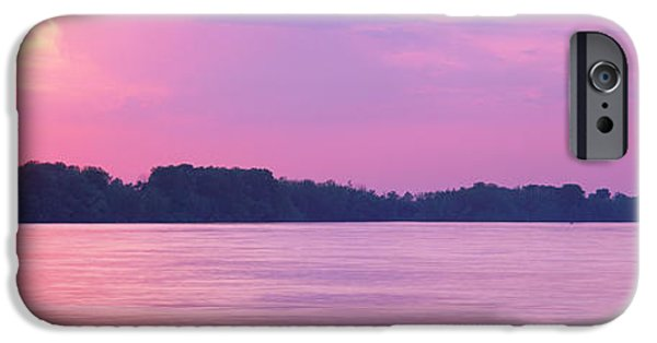 Tn iPhone Cases - Sunset Mississippi River Memphis Tn Usa iPhone Case by Panoramic Images