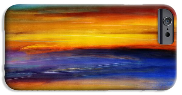 Abstract Seascape iPhone Cases - Sunset Of Light iPhone Case by Lourry Legarde