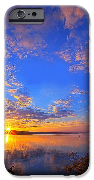 Ithaca iPhone Cases - Sunset On Cayuga Lake III Ithaca New York iPhone Case by Paul Ge