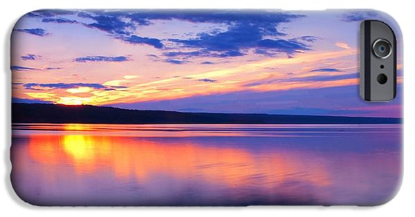 Ithaca iPhone Cases - Sunset On Cayuga Lake IV Ithaca New York iPhone Case by Paul Ge
