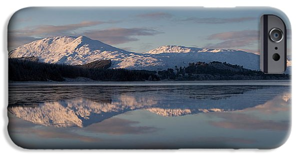 Highlands Digital iPhone Cases - Sunset on Crianlarich iPhone Case by Pat Speirs
