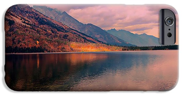 Struckle iPhone Cases - Sunset On Jenny Lake iPhone Case by Kathleen Struckle